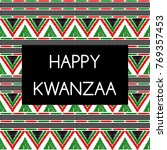 happy kwanzaa holiday... | Shutterstock .eps vector #769357453