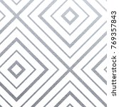 abstract geometric silver... | Shutterstock .eps vector #769357843