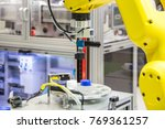 the robot arm is working in the ... | Shutterstock . vector #769361257
