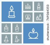 candle line vector icons.... | Shutterstock .eps vector #769364353