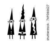 santa claus silhouette set.... | Shutterstock .eps vector #769366627