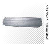 silver glitter paint brush... | Shutterstock .eps vector #769375177