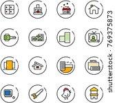 line vector icon set   baggage... | Shutterstock .eps vector #769375873