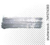 silver paint brush stain or...   Shutterstock .eps vector #769376383