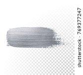 silver glitter paint brush... | Shutterstock .eps vector #769377247