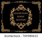 gold border design  frame photo ... | Shutterstock .eps vector #769380613