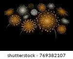 vector firework design isolated ... | Shutterstock .eps vector #769382107