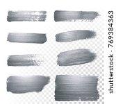 silver glitter paint brush... | Shutterstock .eps vector #769384363