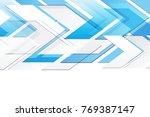 arrow abstract technology... | Shutterstock . vector #769387147