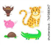 stickers and icons set of cute