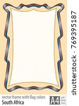 frame and border of ribbon with ... | Shutterstock .eps vector #769395187