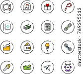 line vector icon set   tv... | Shutterstock .eps vector #769395313