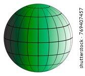 globus 3d earth grid  the... | Shutterstock .eps vector #769407457