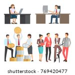 people at work collection of... | Shutterstock .eps vector #769420477