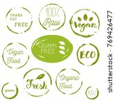 healthy food icons  labels.... | Shutterstock .eps vector #769426477