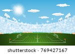 football arena field with... | Shutterstock .eps vector #769427167