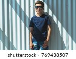 front view. young hipster boy...   Shutterstock . vector #769438507