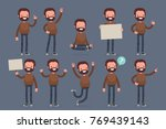 set of male character in casual ... | Shutterstock .eps vector #769439143