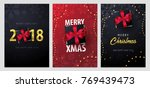 set of marry christmas and... | Shutterstock .eps vector #769439473