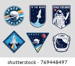 set of space and astronaut  ... | Shutterstock .eps vector #769448497