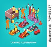 isometric carting composition... | Shutterstock .eps vector #769459357