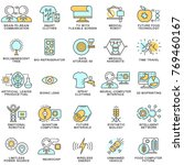 icons of future technologies.... | Shutterstock .eps vector #769460167