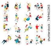 personal sport trainer... | Shutterstock .eps vector #769461343