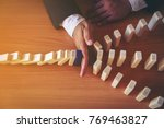 protecting assets from domino... | Shutterstock . vector #769463827