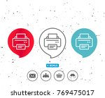 speech bubbles with symbol.... | Shutterstock .eps vector #769475017