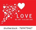 valentine's day with hearty... | Shutterstock .eps vector #769475467