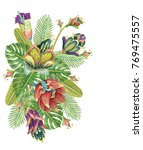 beautiful vector floral pattern ... | Shutterstock .eps vector #769475557