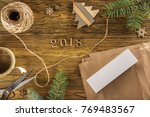 packing a smartphone for a gift.... | Shutterstock . vector #769483567