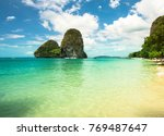 phra nang beach at railay near... | Shutterstock . vector #769487647