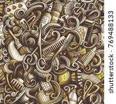 cartoon cute doodles hand drawn ...   Shutterstock .eps vector #769488133