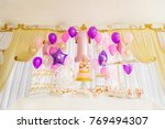 candy bar in the center of... | Shutterstock . vector #769494307