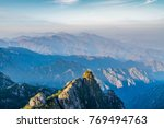 beautiful mountains and rivers... | Shutterstock . vector #769494763