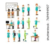 group of science people vector... | Shutterstock .eps vector #769494907