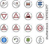 line vector icon set  ... | Shutterstock .eps vector #769501297