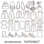 collection of fashionable women'... | Shutterstock .eps vector #769505827