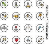 line vector icon set   puzzle... | Shutterstock .eps vector #769506457