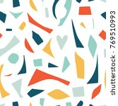 cutout shapes seamless pattern. ... | Shutterstock .eps vector #769510993