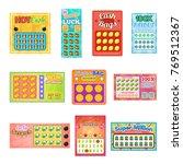 lottery ticket vector lucky... | Shutterstock .eps vector #769512367