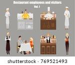 restaurant workers cartoon... | Shutterstock . vector #769521493