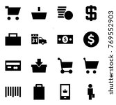 origami style icon set   cart... | Shutterstock .eps vector #769552903