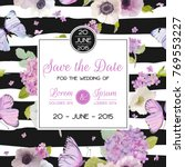 wedding invitation template.... | Shutterstock .eps vector #769553227