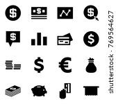 origami style icon set   dollar ... | Shutterstock .eps vector #769564627