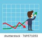 growth graph. profit stock... | Shutterstock .eps vector #769571053