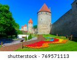 path along walls of tallinn ... | Shutterstock . vector #769571113