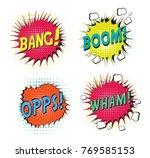 set of bubbles speech  crash... | Shutterstock .eps vector #769585153