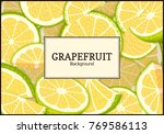 rectangular label on citrus... | Shutterstock .eps vector #769586113